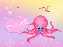 Was born a girl. Illustration of was born a girl stock illustration