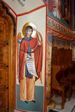 Orthodox byzantine icons in Saint Anna-Rohia monastery, situated in a natural and  place, in Maramures, Transylvania Stock Photos