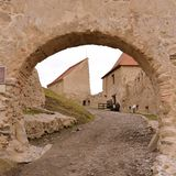 Walls. Rupea -Reps fortress and medieval vestiges. Transylvania, Romania stock images