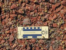 Archaeology- Stone flake in Western Australia royalty free stock images