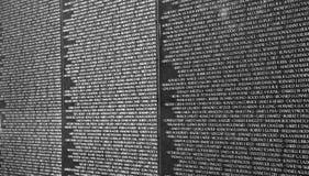 Detail van het Gedenkteken van de Veteranen van Vietnam in Washington D.C. Royalty-vrije Stock Afbeelding
