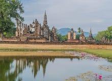 Was het Sukothai Historische Park de hoofdstad van Thailand royalty-vrije stock afbeelding