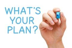 Was Ihr Plan ist lizenzfreie stockfotos
