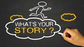 Was Ihre Geschichte ist Lizenzfreies Stockbild