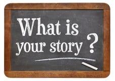 Was Ihre Geschichtefrage ist Lizenzfreies Stockbild