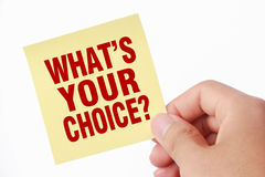 Was Ihre Wahl ist Stockbilder