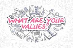 Was Ihre Werte - Geschäfts-Konzept sind Stockfoto