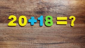 was im Jahre 2018 geschieht, bekannt nicht Das Konzept Stockfotos