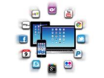 Was ist apps sind in Ihrem beweglichen Netz heute? Lizenzfreie Stockbilder