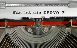 Was ist die DSGVO text in German that means What is the GDPR Gen. Eral Data Protection Regulation. This is a directive of European Union about data protection stock images