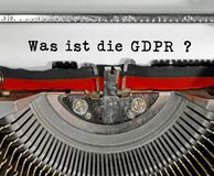Was ist die GDPR text in German that means What is the GDPR Gene. Ral Data Protection Regulation. This is a directive of European Union about data protection and stock images