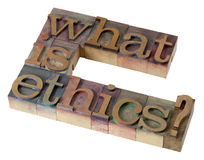 Was ist Ethik? Lizenzfreie Stockfotos