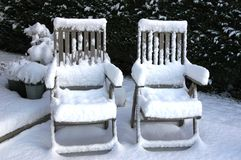 was koude stoelen Stock Afbeelding