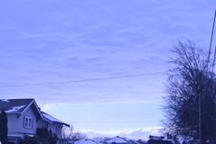 Snow on the sky stock photography