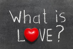 Was Liebe ist Stockfoto