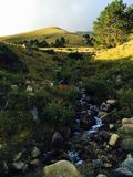 Small brook at the Caucaus Mountains royalty free stock image