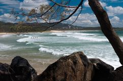 Beach view - Coffs Harbour. This was one of many beaches we came across on Australia`s East Coast, this gem was near Coffs Harbour Stock Photo