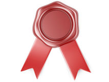 Was seal with red ribbon Stock Photography
