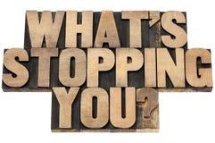 Was Sie Frage stoppt Lizenzfreie Stockfotografie