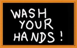 Was uw handen stock afbeeldingen