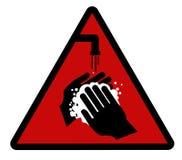 Was uw handen! stock illustratie