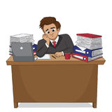 He was very sad that the project is not approved. Vector and illustration Stock Image