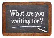 Was warten? Lizenzfreies Stockbild