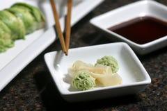 姜wasabi 免版税库存图片