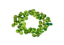 Wasabi beschichtete grüne Erbsen ist Snack Stockbild