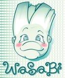 Wasabi boy. Cartoon character Stock Photos