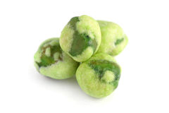 Wasabi Coated Green Peas Royalty Free Stock Images
