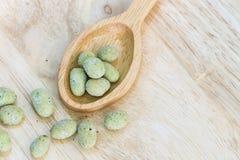Wasabi coated nut Royalty Free Stock Image
