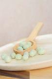 Wasabi coated nut Stock Photo