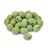 Wasabi coated peanuts. Royalty Free Stock Photo
