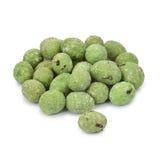 Wasabi coated peanuts. Royalty Free Stock Photo