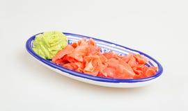Wasabi e zenzero dei sushi Immagini Stock Libere da Diritti