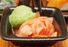 Wasabi and ginger Stock Photography
