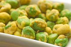 Wasabi green peas Royalty Free Stock Photo