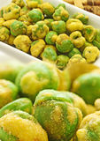 Wasabi green peas Royalty Free Stock Image