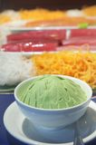 Wasabi japanese food. With sushi at background Royalty Free Stock Photos