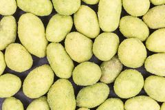 Wasabi nuts background royalty free stock image