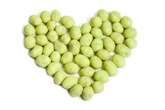Wasabi peanut heart Royalty Free Stock Images