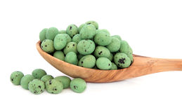 Wasabi Peanuts Stock Photo