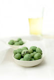Wasabi Peanuts and lager Royalty Free Stock Image