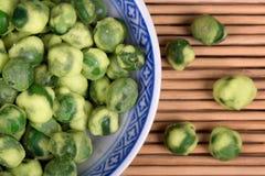 Wasabi peas Stock Photo