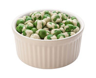 Wasabi Peas Isolated clipping path Stock Photos