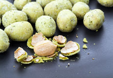 Wasabi seaweed coated peanuts Royalty Free Stock Photo