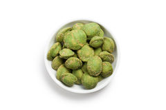 Wasabi snack peanuts Royalty Free Stock Photo