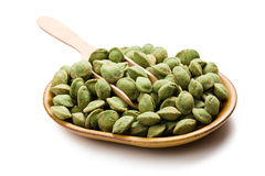 Wasabi snack peanuts Stock Photography