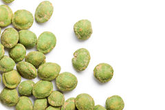 Wasabi snack peanuts Stock Image